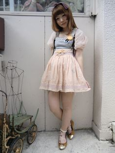 lost in the woods Dolly Fashion, Mori Girl Fashion, Weird Fashion, Cute Fashion, Asian Fashion, Fashion Outfits, Style Ulzzang, Ulzzang Fashion, Harajuku Fashion