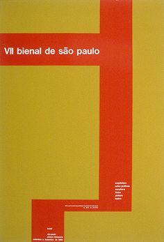 poster for São Paulo bi-annual by Almir Mavignier (1963)