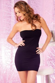 The Perfect Black Tube Dress in OSXL