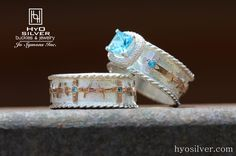 Create the perfect his and her set by customizing Hyo Silver rings. Shown here is the Forever Set 6, starting at $725.