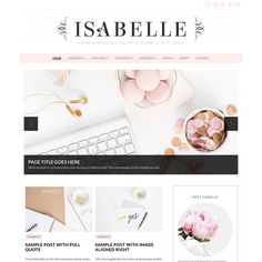 Meet Isabelle; a gorgeous, bold theme for stylish bloggers. Her auto-slider highlights your popular posts or categories so visitors see your best content first. Click through to view the theme