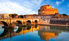 Rome, Italy - Castel Saint Angelo at Dusk - Photography (Art Prints, Wood & Metal Signs, Can Must See Italy, Chateau Saint Ange, One Day In Rome, Saint Angelo, Voyage Rome, Rome Itinerary, Sites Touristiques, Tour Tickets, Trevi Fountain