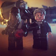Chewie, we're home. #lego #starwars #legostarwars #hansolo #chewbacca #millenniumfalcon #mäenkestä