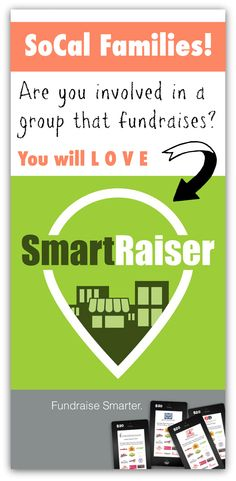 SmartRaiser is a mobile discount card that local groups can sell to sell to raise money for their cause! They are all over SoCal and growing. Love this company. Easy + profitable fundraiser for schools and groups.