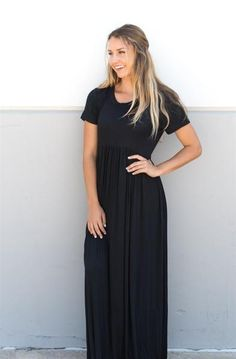 These beautiful Maxi Dresses are sure to become your new fav dress. Pair with a jean jacket and chunky necklace or dress down with sneakers and a ball cap. You are sure to look stylish any way you wear it! Urban Fashion, Womens Fashion, Fashion Edgy, Fashion Rings, Proverbs 31 Woman, Beautiful Maxi Dresses, Christian Girls, Godly Woman, Modest Dresses