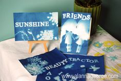 Summer Day Camp Series for Kits - Craft project using Sun Paper and toys to create mini artwork. So easy and fun to watch the pictures appear! I am doing this with my kids.