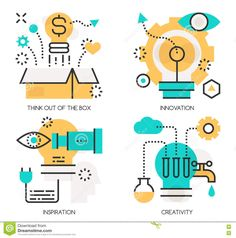 Concepts Of Think Out Of The Box , Innovation Stock Vector - Image: 72001126