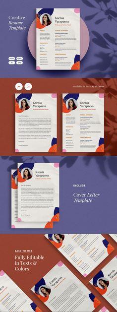 CV Resume | Creative #ResumeTemplateDownload #stationeries #colorful #creative #creativeresume #resume #template #cvtemplate #ResumeTips #ResumeHelp #printableresume #employment #resumetemplate #StationeryTemplate #ResumeFormat #StationeryDesign #epsflyer #resume Cover Letter Template, Cv Template, Stationery Templates, Resume Templates, Graphic Design Resume, Resume Format, Resume Tips, Creative Resume, Paper Design