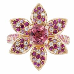 Pink Persuasion in 18k rose gold with pink sapphires, rubies and white diamonds