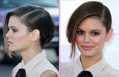 Rachel Bilson's Side-Parted Updo