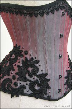 """Aurora"" Royal Black Couture Corsets"