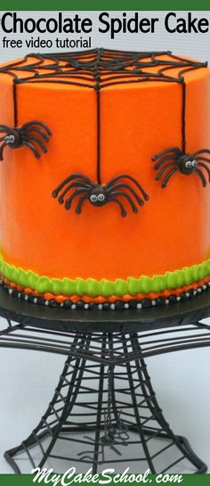 In this free Halloween cake video tutorial, learn to make this creepy Chocolate Spider Cake by My Cake School! So much fun and perfect for Halloween parties!
