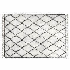 Hkliving Vloerkleed Berber 180 x 280 cm - Zwart/Wit - afbeelding 1