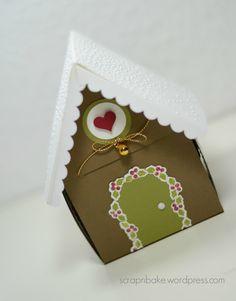 Stampin' UP! - Anleitung - Tutorial - Lebkuchenhaus - Gingerbreadhouse - Weihnachten - Christmas