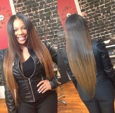Virgin hair remy hair ombre hair hairstyle http://www.sishair.com/product/ombre-hair-extensions-brazilian-remy-hair-silky-straight-wavy-t1b-30/