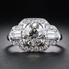 1.85 Carat Art Deco Diamond Engagement Ring Circa mid 1920's-1930