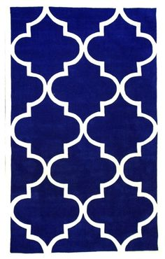 Pacific Blue Hand Tufted Area Rug Trellis, Pacific Blue, 9'x12' contemporary-area-rugs