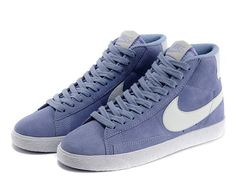 Cheap 375573 510 Nike Blazer MID suede blue women shoes
