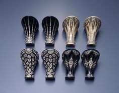 """Art Deco """"jeweled heels"""" - a sample from a time when heels were custom-ordered."""