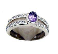 fine-looking Amethyst 925 Sterling Silver Purple Ring indian US 6789