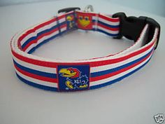 University of Kansas Jayhawks KU Dog Collar