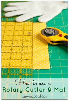 How to cut fabric with a rotary cutter and mat by sewmccool.com Quilting Tools, Quilting Tutorials, Sewing Tutorials, Sewing Hacks, Sewing Crafts, Sewing Projects, Quilting Ideas, Sewing Patterns, Sewing Ideas