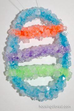 Easter Borax Crystals