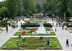 Gardens at the Cascade. Yerevan, Armenia