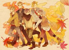 From left to right: Timo, Berwald, Lukas, Mathias and Emil.