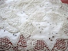 vintage linens and lace   Antique Vintage Linens, Doilies, Goblet Rounds and Coasters - The ...