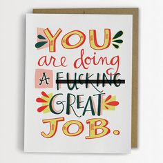 You Are Doing A Fcking Great Job van emilymcdowelldraws op Etsy, $4.50
