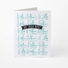 Do Your Best - letterpress encouragement greeting card