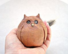 Items similar to Rustic Minimalist Woodland Owl Stoneware Sculpture, Made to Order on Etsy Ceramic Birds, Ceramic Clay, Ceramic Pottery, Pottery Sculpture, Sculpture Clay, Ceramic Glaze Recipes, Animal Art Projects, Pottery Animals, Carving Designs