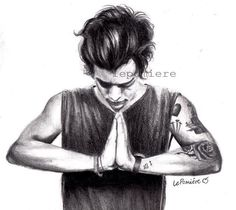 a drawing someone did today after harry changed his icon. people are insanely talented.