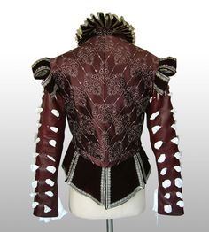 Spanish Renaissance Mid 1500s by Thomas Ogden at Coroflot.com  The design of this jacket.. well, i madly love! The cut out style on the sleeves, looped shoulders, detailed body and ruffled neck.. detail at its best