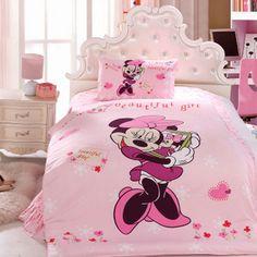 100% Cotton Minnie Mouse Sets Minnie Mouse Bed Sets Leopard Pink ...