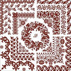 merklap met monogram 'Rozen Tulpen Nelken' (nr. 3)