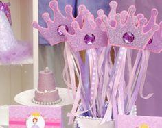 Artículos similares a Princess Wands- Princess Party - Crown Party - Purple Princess Party - Purple Wands -Crown Wands - Princess Birthday Party - Purple-Birthday en Etsy