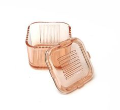 Pink Depression Glass Refrigerator Dish // My mom and grandma have tons of these. I love them.