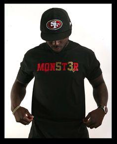 Mon5t3r tshirt - Navarro Bowman - 49ers - Heroics Clothing