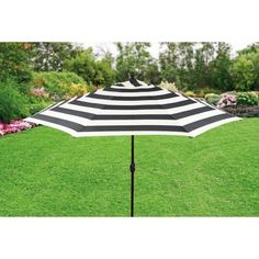 Better Homes and Gardens Aluminum Market Umbrella, Cabana Stripe Tiki Umbrella, Market Umbrella, Rectangular Patio Umbrella, Front Porch Makeover, Aluminum Patio, Outdoor Fashion, Better Homes And Gardens, Cabana, Home And Garden