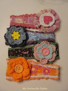 My Crochet , Mis Tejidos: Entre Telas y Tejidos - Diademas para recien nacidas - Headbands,vinchas,cintillos , diademas y su Paso a Paso.