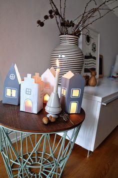 MilcHütten Häuser DIY basteln mit Kindern, Upcycling, Windlicht aus Tetra Pack selbst gemacht