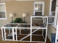 Build a 'cat pen' so your cats can go safely outside.