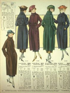 1920 Coats  in Winter http://www.vintagedancer.com/1920s/womens-coats-of-the-1920s/