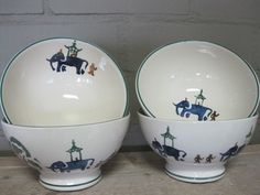 Working Elephants French Bowl 1997 (Discontinued)