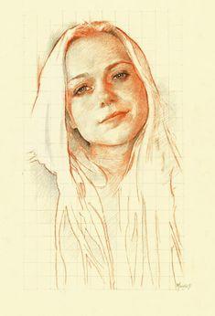Portrait Sketches, Pencil Portrait, Portrait Art, Art Sketches, Trois Crayons, Realistic Sketch, Pastel Portraits, Drawing Projects, Pastel Art