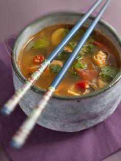 Soupe thaïlandaise aux crevettes (Tom Yam Goong) - Marmiton