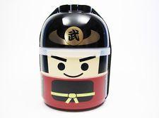 NEW! JAPANESE BENTO LUNCH BOX - KOKESHI BUSHI SAMURAI Microwave ok Made in Japan