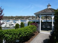 Our gazebo overlooking the Manasquan River.